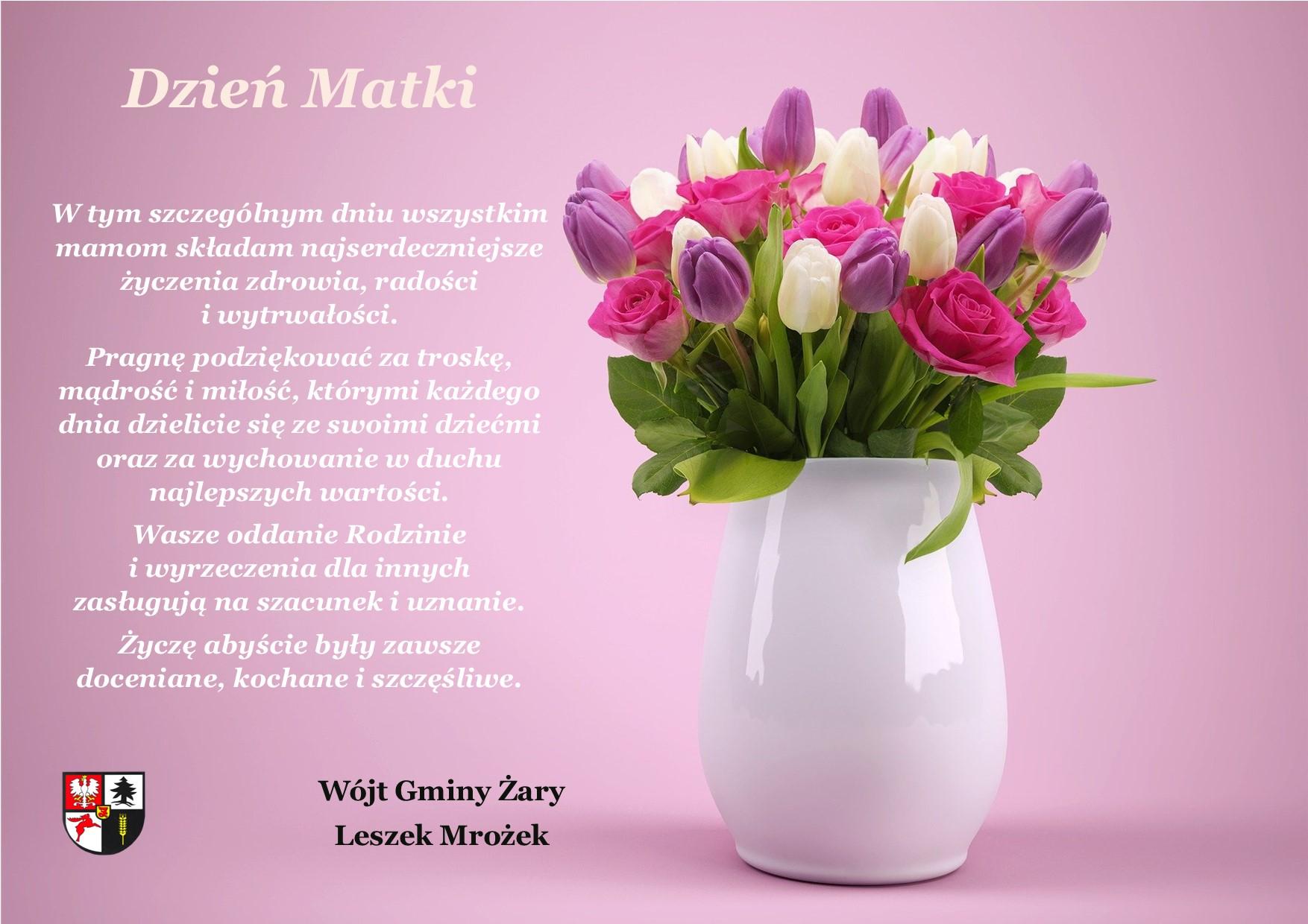 Ilustracja do informacji: Życzenia na Dzień Matki