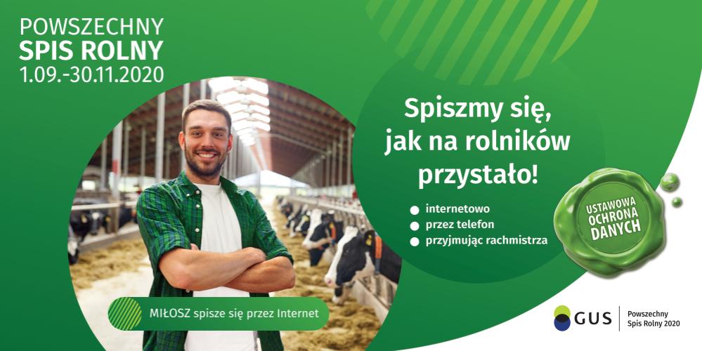 Ilustracja do informacji: Powszechny Spis Rolny 2020-2021