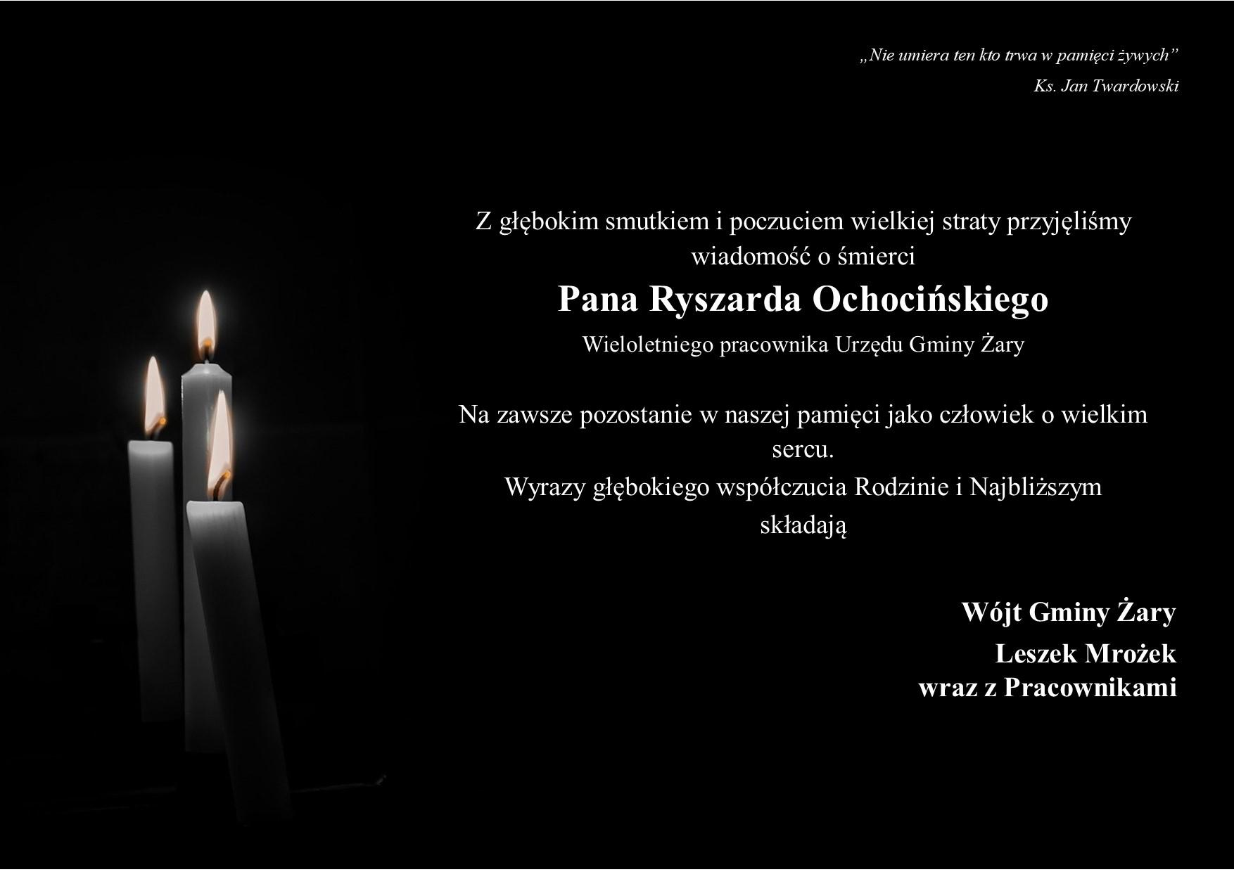 Ilustracja do informacji: Nie żyje Ryszard Ochociński